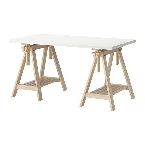 IKEA(イケア) LINNMON FINNVARD テーブル ホワイト バーチ B00JEY8Z9Q