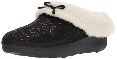 Snug Loaff Womens Sequin Slipper Black FitFlop wpqznROWWc