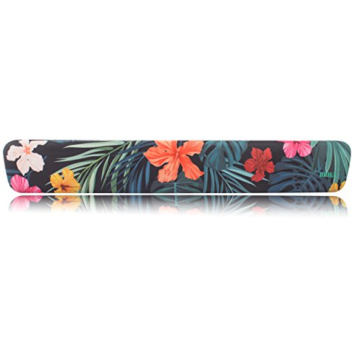BRILA Memory Foam Keyboard Wrist Rest Support Pad Cushion – Ergonomic Slope Design with Floral Leaves Pattern - Wrist Support for Office Work and PC Gaming Easy Typing & Anti-Fatigue by Brila