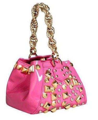 ed088fdc94e6 Amazon.com  Versace for H m Studded Pink Leather Evening Bag Handbag  Shoes