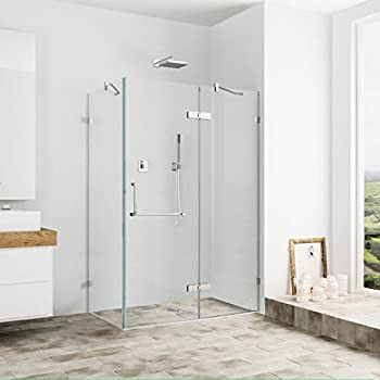 Merveilleux VIGO Monteray 36 X 48 In. Frameless Shower Enclosure With .375 In