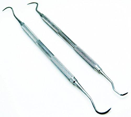 Dental Scaler Anterior Posterior New Periodontics Instrument 2 Pcs Set Sickle H6/h7, Jaquette U15/30
