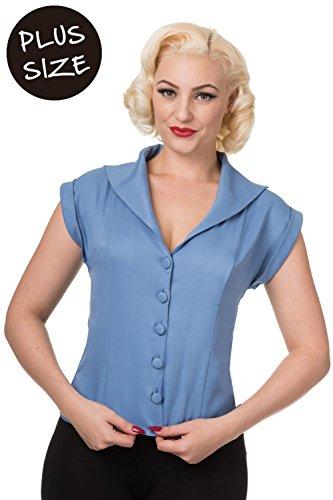 Banned Dream Master Plus Size Vintage Retro Womens Shirt - Misty - Banned Uk Clothing