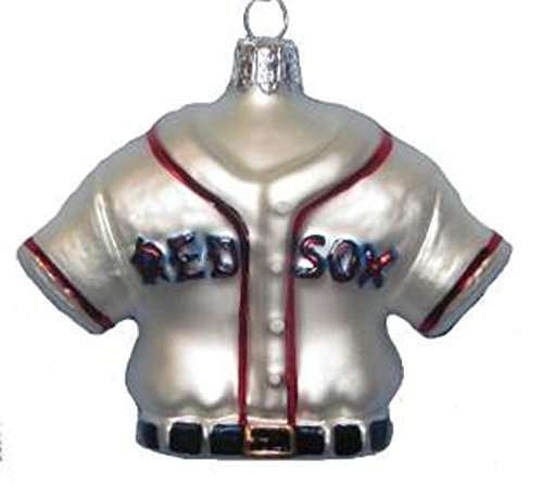 "Kurt Adler 3"" MLB Boston Red Sox Baseball Jersey Glass Christmas Ornament"