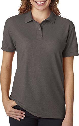 Gildan - Ladies DryBlend Double Pique Polo Shirt - 72800L-Charcoal-XL Double Pique Polo Shirt