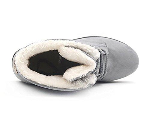 Outdoor Warm Grau Worker Wicky Boots LS Sneaker Stiefeletten Winter Gefüttert Damen v1xvF0nZwX