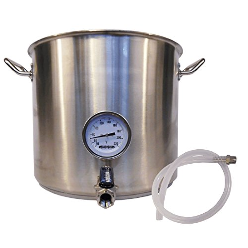 HomeBrewStuff Heavy Duty 10 Gallon Stainless Steel Kettle...