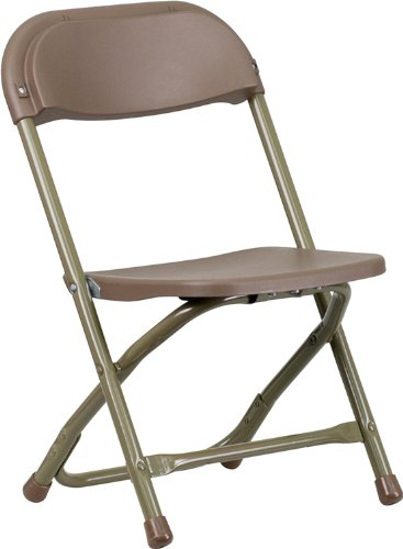 Flash Furniture Kids Brown Plastic Folding Chair by Flash Furniture