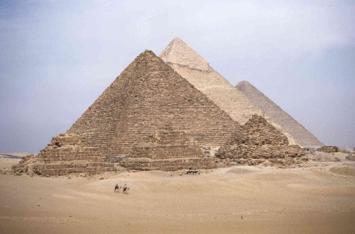 12-Feet de ancho por 8-Feet Alto. Prepasted Papel pintado mural de una foto de: Largest Egipto Pyramid at Giza. Khufu. Fácil...