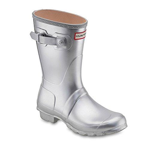 Hunters Boots Womens Original Short Boots, Silver, 5 B(M) US