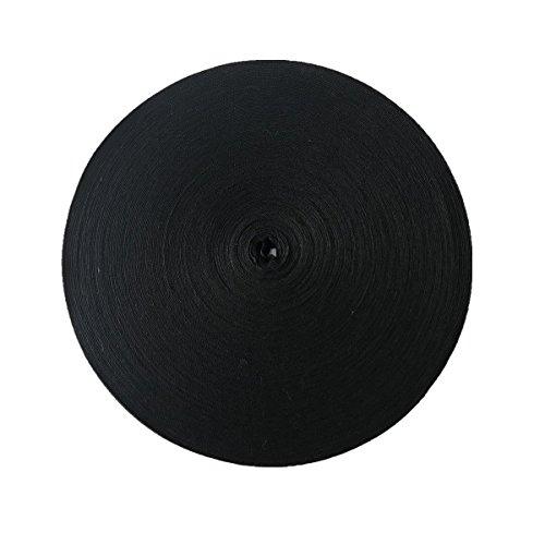 QIANF Twill Tape Ribbon 100% Cotton Black 1