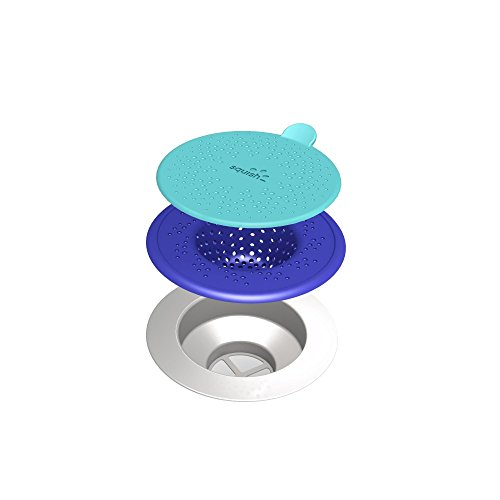 (ROBINSON HOME PRODUCTS Blue Squish Sink Strainer, Blue)