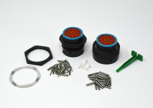 Deutsch HDP20 Bulkhead 23-pin Connector kit, 14-16 AWG Solid Contacts