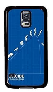 Samsung Galaxy S5 fashion covers Funny Evolution PC Black Custom Samsung Galaxy S5 Case Cover