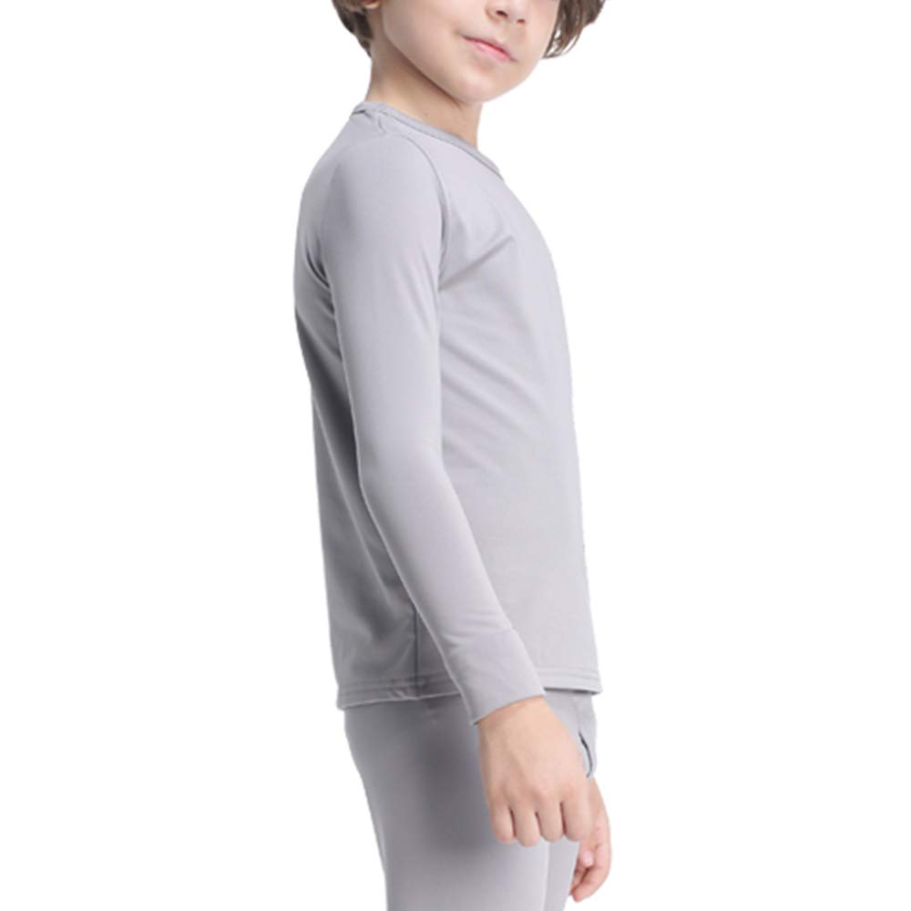 Subuteay Boys Thermal Top Fleece Lined Long Johns Set Kids Base Layer Ultra Soft