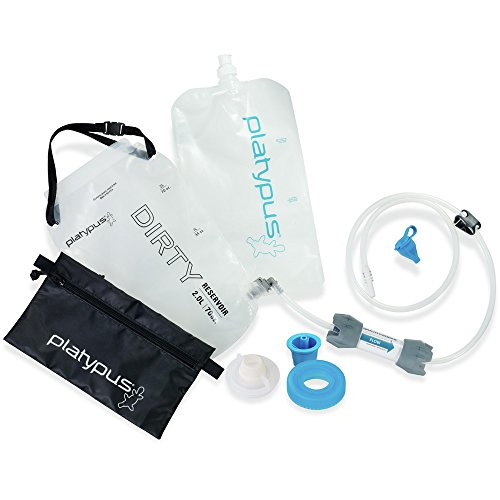 (Platypus GravityWorks 2.0 Liter Complete Water Filter Kit for Camping and Backpacking, Compatible with Hydration Bladders and Water Bottles)