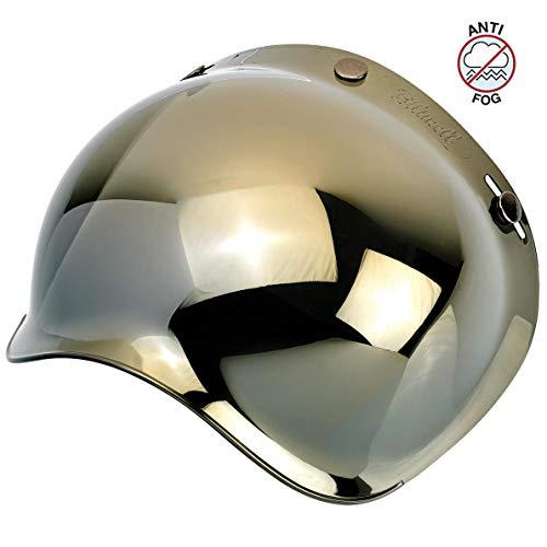 Biltwell Unisex-Adult (BS-GLD-AF-SD) Bubble Shield-Gold Mirror-Anti-Fog, One - Shield Gold