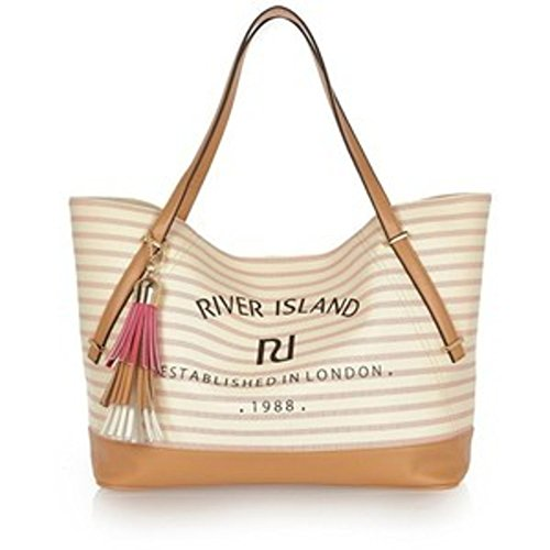 River Island Beach Tassel Stripe River Shopper Ladies Island Bag E5wYZpqA