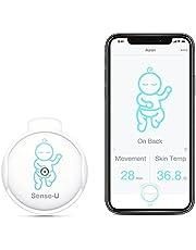Sense-U Elektroniczna niania z czujnikiem alarmu alarmu o temperaturze ruchu: Śledzi ruch brzucha dziecka, temperatura skóry, pozycję snu bezpośrednio na smartfonie (zielony)