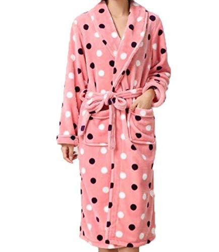Pijama Bañarse Para Hombres En Hogar Cardigan Pink Bata Engrosamiento Servicio Albornoz Camisón El Ropa Invierno De Franela xX7qwZC6