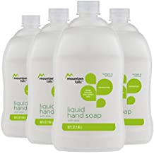Mountain Falls Liquid Hand Soap Refill Bottle, with Aloe, Compare to Softsoap, 40 Fluid Ounce (Pack of 4)