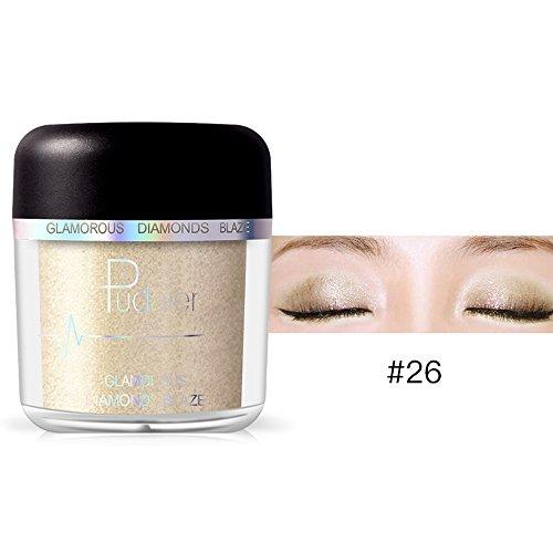 Haluoo_Jewelry High Pigmented Eyeshadow Powder,Haluoo Smoked Shimmer Glitter Pearl Loose Eyeshadow Pigments Mineral Eye Shadow Long Lasting Dust Powder Sparking Eye Shadow Cosmetic Hypoallergenic (L) -
