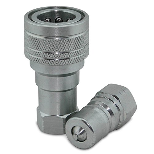 """3/8"""" NPT ISO 7241-B Stainless Steel Quick Disconnect Hydraul"""