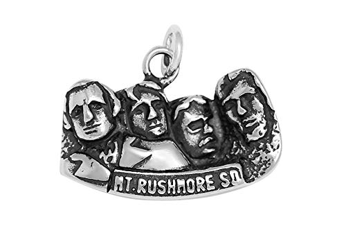 (Raposa Elegance Sterling Silver Mount Rushmore Memorial Charm (approximately 12 mm x 20.5 mm))