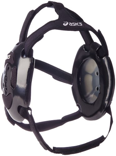 ASICS Aggressor Ear Guard (Black/Black), One (Asics Wrestling Ear Guard)