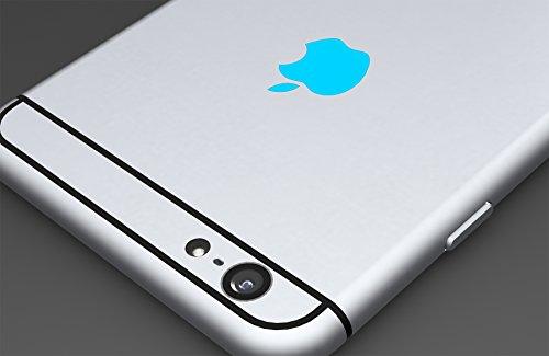 Sky Blue Apple Logo Color Changer Vinyl Sticker Decal iPhone 6,Plus,5s,5c