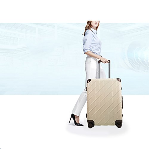 Besteamer Hardside Spinner Luggage Travel Carry-on Expandable Luggage Suit, Lightweight Spinner Trolley Suitcases (24'') by Besteamer (Image #5)