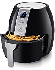 Ultrean Air Fryer, 4.2 Quart (4 Liter) Electric Hot Air Fryers Oven Oilless Cooker with LCD Digital Screen and Nonstick Frying Pot, UL Certified,1-Year Warranty,1500W (Black)