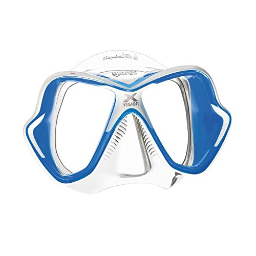 - Mares X-Vision Ultra Liquid Skin Dive Mask, White/Blue