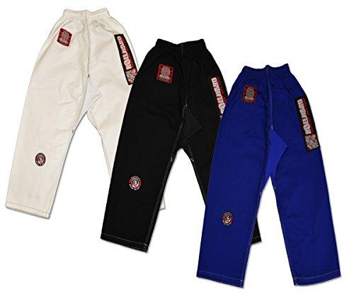 ROLL HARD Kids Hybrid Flex Panel Gi BJJ Pant - White, Blue or Black, great for jiu jitsu, krav maga, martial arts and kick boxing