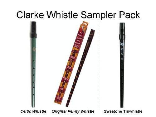 (Clarke Deluxe Whistle Sampler Pack (1 Penny, 1 Celtic, and 1 Sweetone))