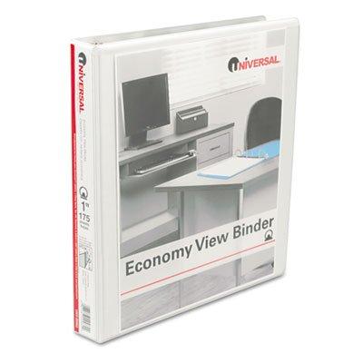 Universal Round Ring Economy View Binder, 1 Capacity, White, 12/Carton (20962CT)