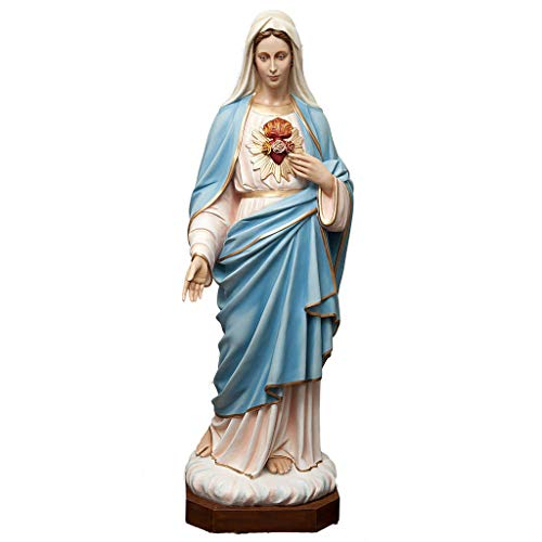 Holyart Sacred Heart of Mary Statue in Painted Fiberglass 165cm