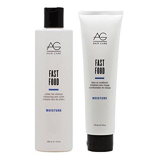 AG HAIR Fast Food Shampoo 10oz & Leave on Conditioner 6oz...