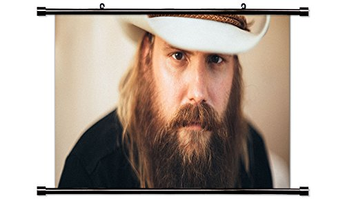 Chris Stapleton Country Singer Fabric Wall Scroll Poster