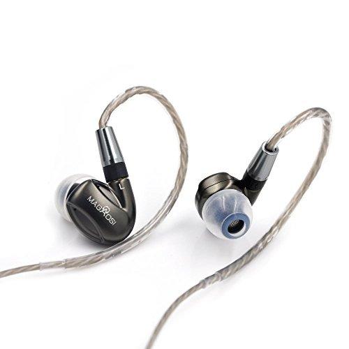 HiLisening MaGaosi Newest High end Detachable Design K3 In-Ear HiFi Earphone 1 Dynamic and 2 BA 3-way Hybrid Earbud Sport Detach Earhooks Headset Headphones