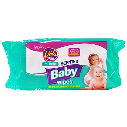 Amazon.com : Vida Mia Scented Baby Soft Wipes Refill. 80 Cotton Wipes : Health And Personal Care : Baby