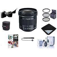 Canon EFS 10-18mm f/4.5-5.6 IS STM Lens Bundle. USA. Value Kit w/Acc #9519B002