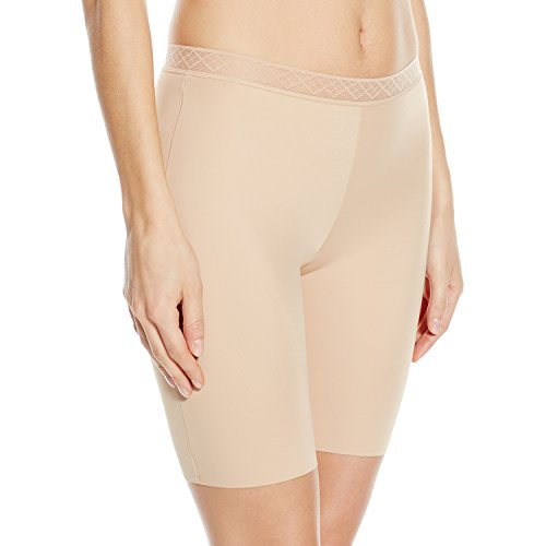 VASSARETTE Women's Invisibly Smooth Slip Short Panty 12385, VASS Latte, 2X-Large/9
