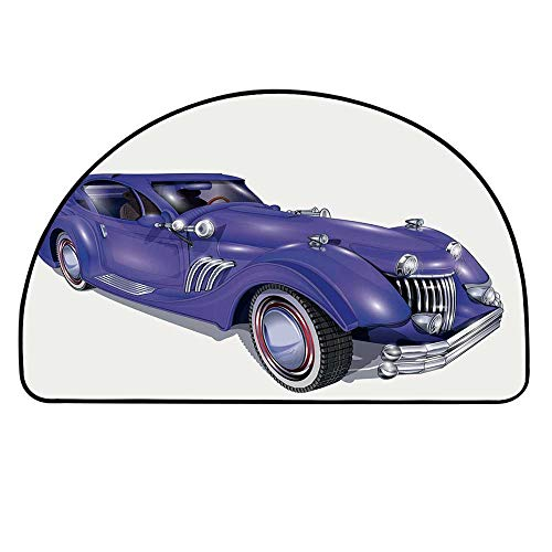YOLIYANA Cars Entry Mat Rugs,Custom Vehicle with Aerodynamic Design for High Speeds Cool Wheels Hood Spoilers Decorative for Front Door,27.5