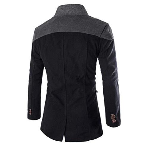 Gray Trench Apparel Huixin Coat Lapel Slim Double Breasted Long Windbreaker Schwarz Men's Jacket Mi Fit Coat 5r8WW6qX