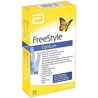 Abbott Freestyle Glucose, Optium Stripes, 25 unidades