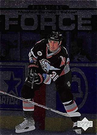 1997-98 Upper Deck Hockey Card  393 Matthew Barnaby Buffalo Sabres Official  NHL Trading e49038957