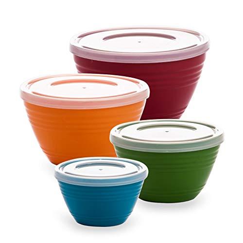 BINO Plastic Mini Prep Bowls with Lids Set – Plastic Bowl Set Prep Bowls for Kitchen