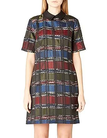 adL Kadın Kısa Kollu Elbise, Emp.Saks, XS Beden