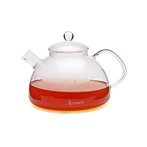 Teabox Harmony Glass Tea Kettle (Borosilicate glass teapot, Stovetop Tea Kettle, 38 fl oz) (38 Pot Coffee Oz)